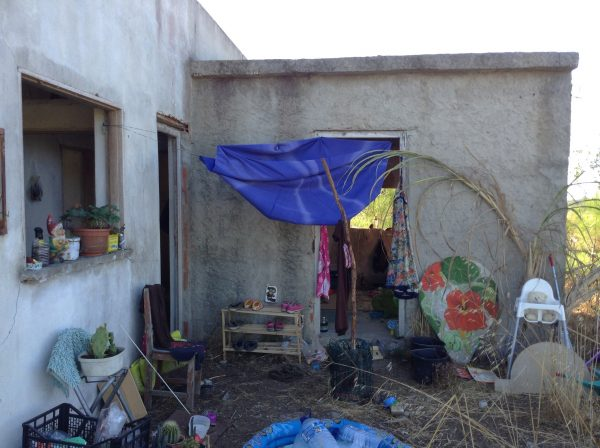 """Although a bit disheveled, our temporary residence in Rogil has been complimented for its """"art installation"""" & several passers-by have taken photos."""